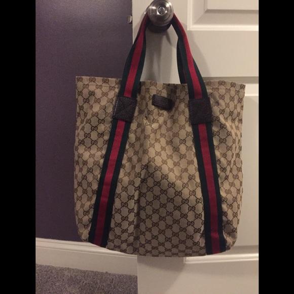 686e4e3a430278 Gucci Bags | Large Cloth Tote | Poshmark